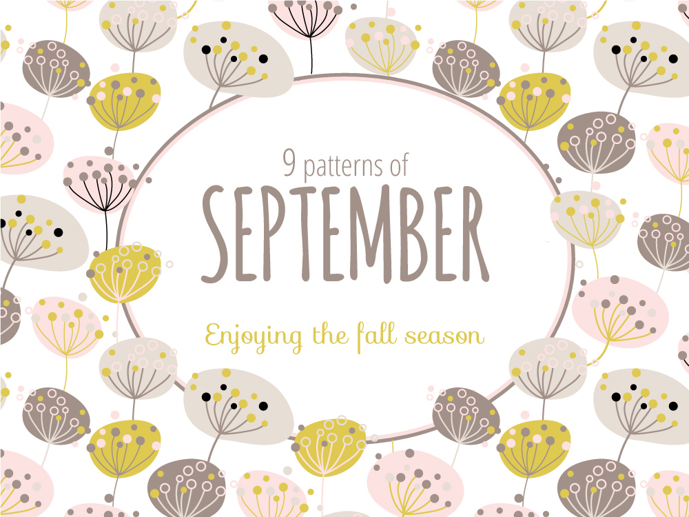 """Rating top 9 patterns of September for """"Daily Crazy Pattern"""" project by Natalia Kolodiazhna"""