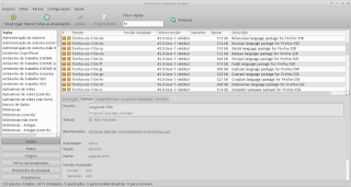 Instale os pacotes de idiomas usando o Synaptic