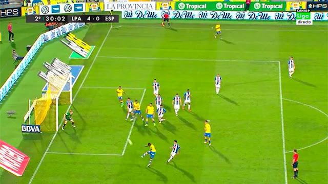 4-0 gol de volea de Wakaso tras saque de esquina