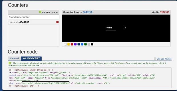 Theo dõi lượng truy cập blog bằng Histats cho AMP template