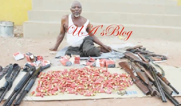 Busted! See The 80-Year-Old Man Caught Repairing Guns For Armed Robbers (Photos)