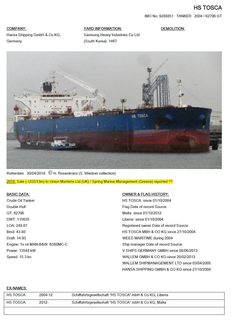 Cargo-Vessels-International / Non-Commercial-Shipping