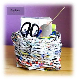 Koszyczki wiklinowe z papieru