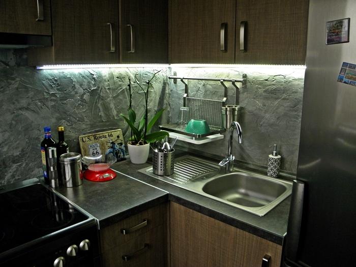 oświetlenie LED w kuchni | levelupstudio