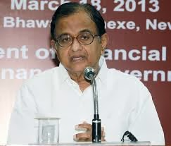 The Union Finance Minister Shri P. Chidambaram