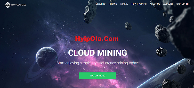 Review Mining CryptoUniverse.io - Site khai thác mỏ BTC, LTC tốt nhất 2019