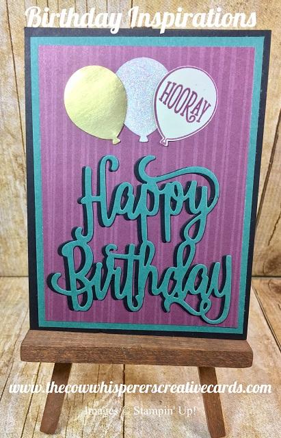 Card, Happy Birthday, Thinlits, Stampin UP