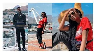 Newly Weds Adekunle Gold & Simi Honeymoon In Cape Town [Photos]