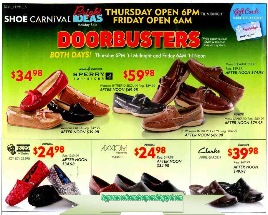 Shoe Carnival Store Specials