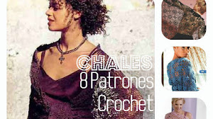 8 Patrones de Chales para tejer al crochet