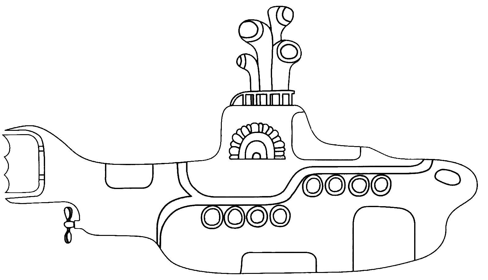 yellow submarine coloring pages - nen cult submarino amarelo para colorir
