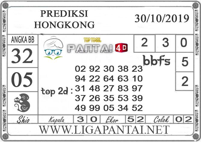 """PREDIKSI TOGEL """"HONGKONG"""" PANTAI4D 30 OKTOBER 2019"""