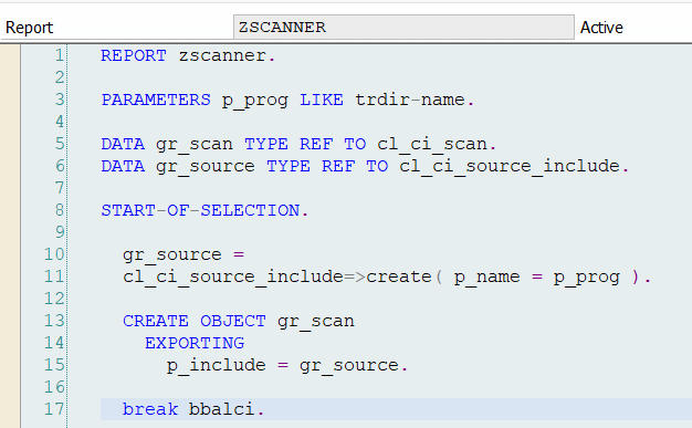 SAP ABAP Central: How to scan ABAP code?