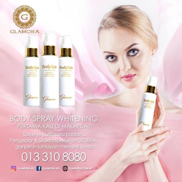 glamora, body spray, glamora whitening body spray
