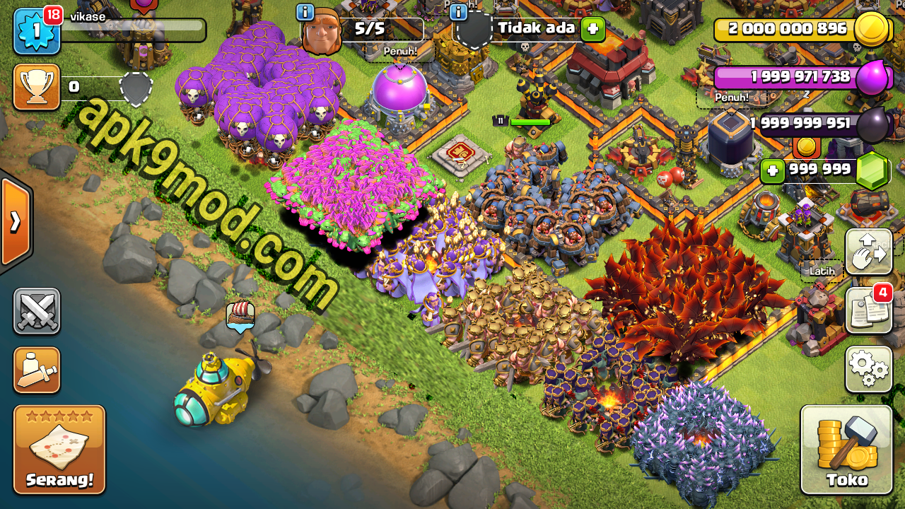 Download Miroclash coc mod apk terbaru