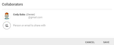 Google Keep Collaborator
