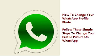 How to change profile photo on WhatsApp