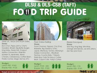 Food Trip Guide for Restaurants around DLSU