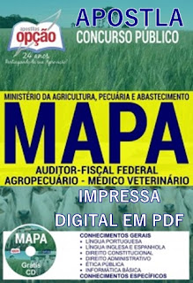 Apostila concurso MAPA (Impressa) Auditor Fiscal Federal