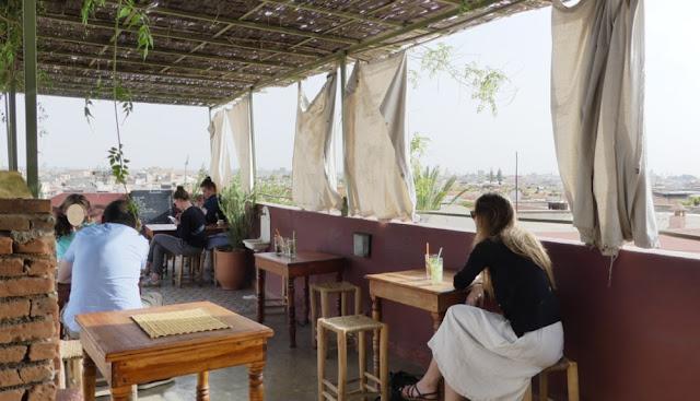 Maison de la Photographie - Café auf der Dachterrasse