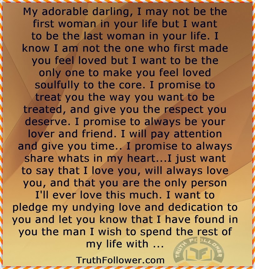I Promise To Love You The Rest Of My Life Quotes