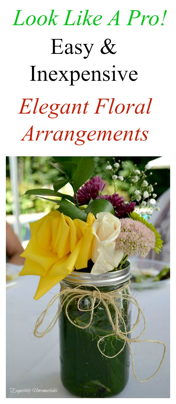 Easy And Inexpensive Floral Arrangements
