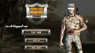 Tampilan utama apermainan game android  Survival Military Training (rev-all.blogspot.com)