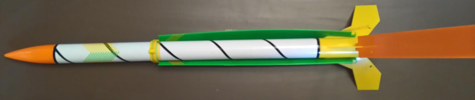 estes flip flyer 2416 and booster mod model rocket collection