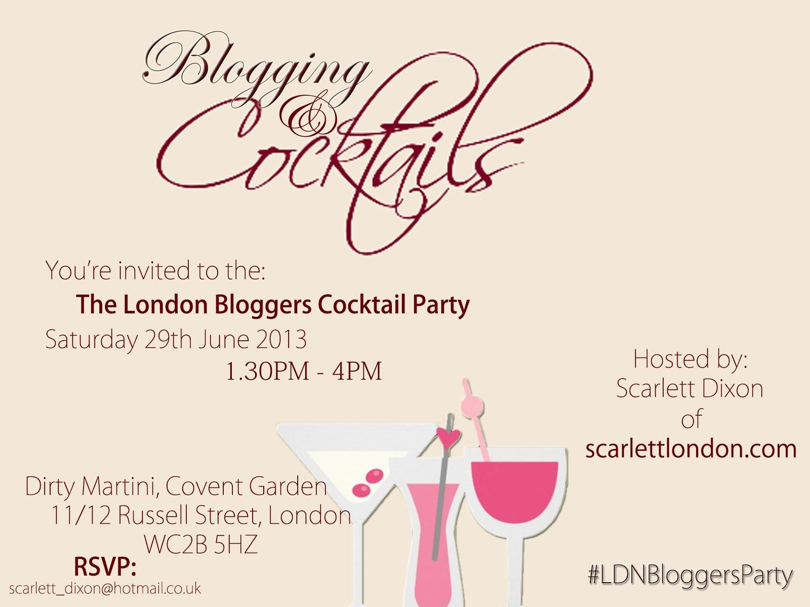 Bloggers meet invite