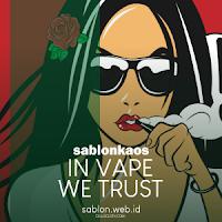 Sablon Kaos Vape Komunitas Indonesia Mendukung Vape