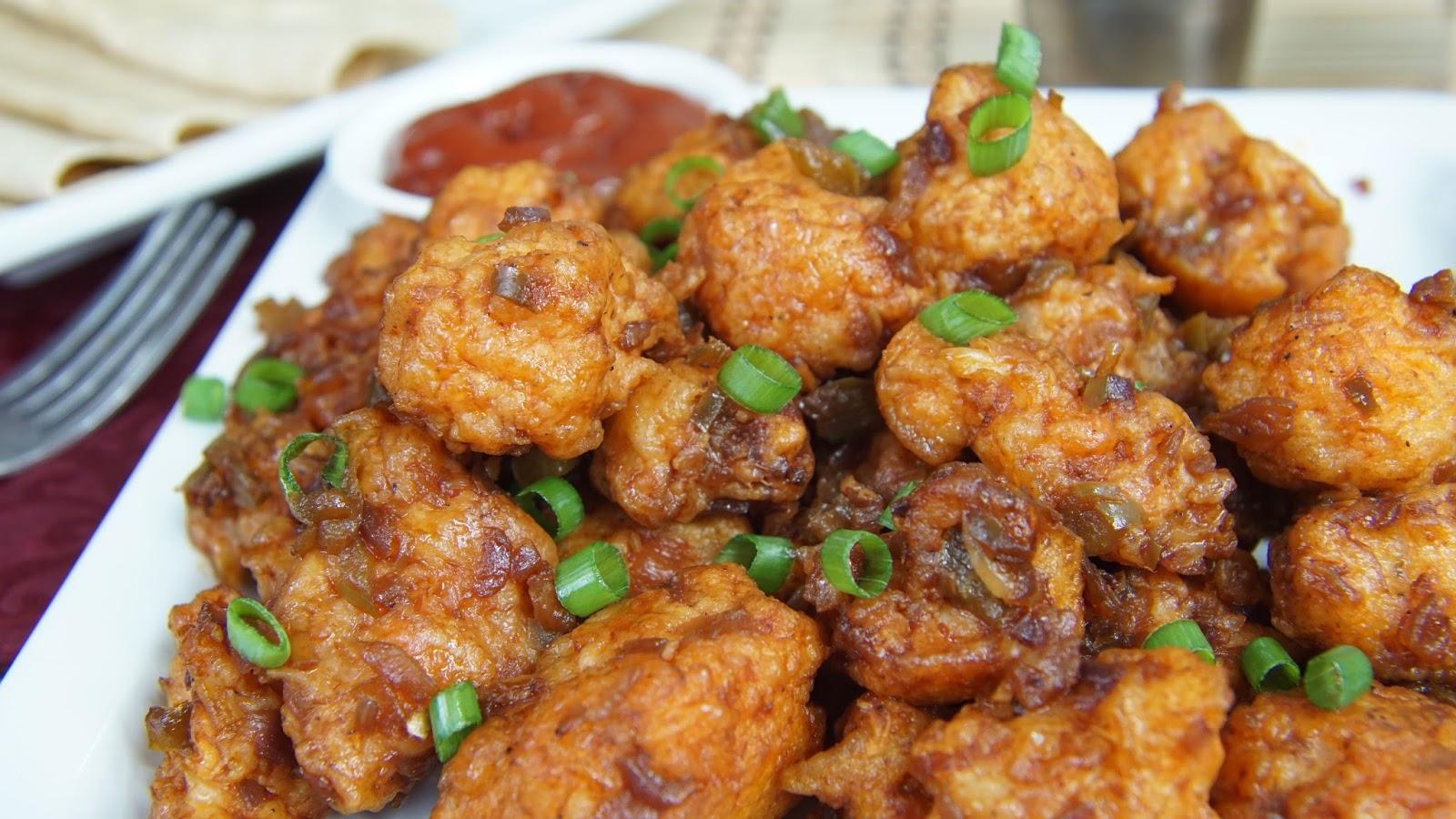 Cauliflower Manchurian Recipe Gobi Manchurian Dry Steffi S Recipes