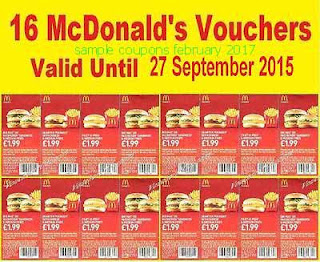 free Mcdonalds coupons february 2017