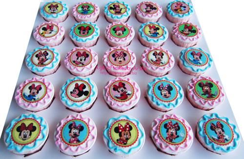 Birthday Cupcake Edible Image Minnie Mousee