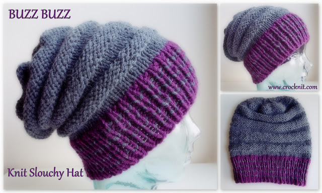 how to knit, knit patterns, free knit patterns, slouchy hats, chunky hats,