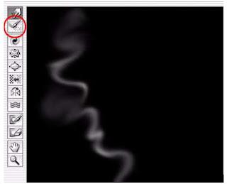 cara menciptkan efek asap dengan tool brush