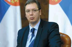 ο πρόεδρος της Σερβίας Αλεξάνταρ Βούτσιτς