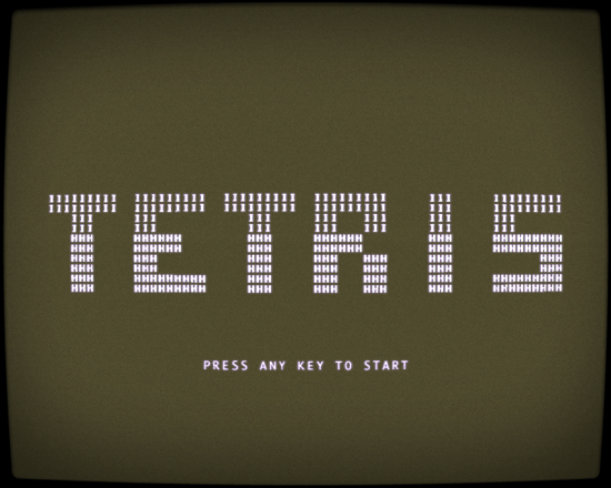 Tetris English version 1984 - title
