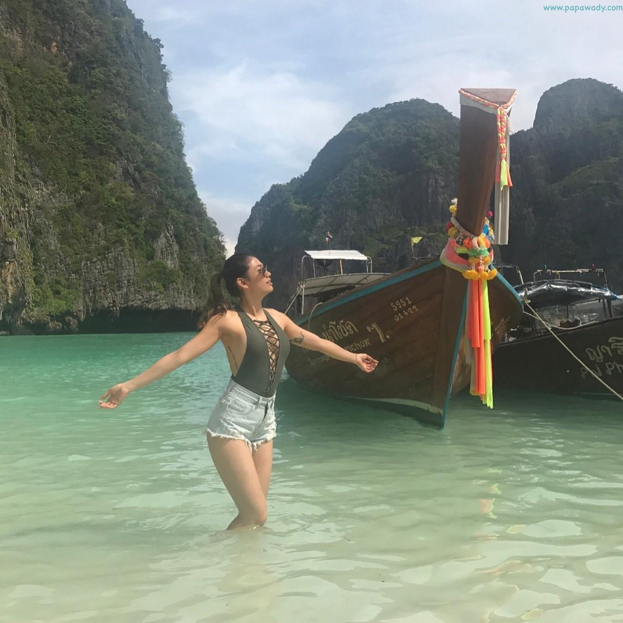 Thinzar Wint Kyaw Throwback Happy Vacation In Krabi Beach , Phi Phi Island and In Thailand