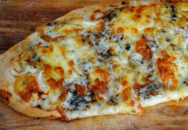 Pizza Blanca Casera