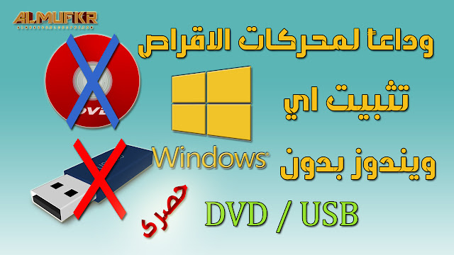 How to install Windows without CD, DVD or USB Flash Drive