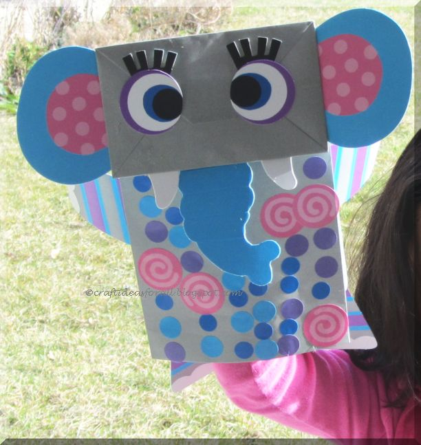 Craft Ideas For All Dumbo The Elephant Lunch Bag Craft For Preschoolers