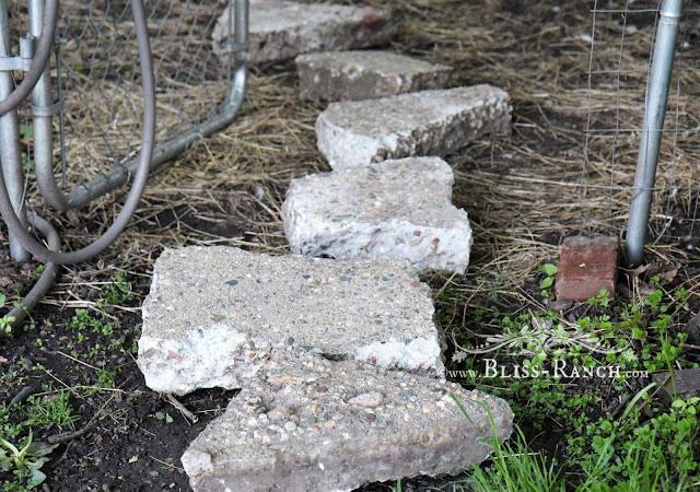 reuse concrete as stepping stones, Bliss-Ranch.com