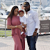 Tinubu's Son shows off rare family photo with his wife and child.