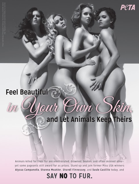 Former Miss USA titleholders pose nude for PETA ad