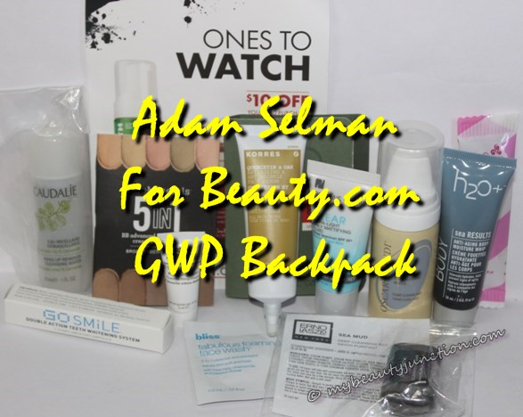 Adam Selman for Beauty.com GWP Miss Baby Backpack, samples