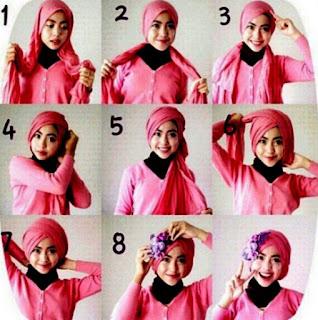 Tutorial hijab turban kreasi baru yang trendy
