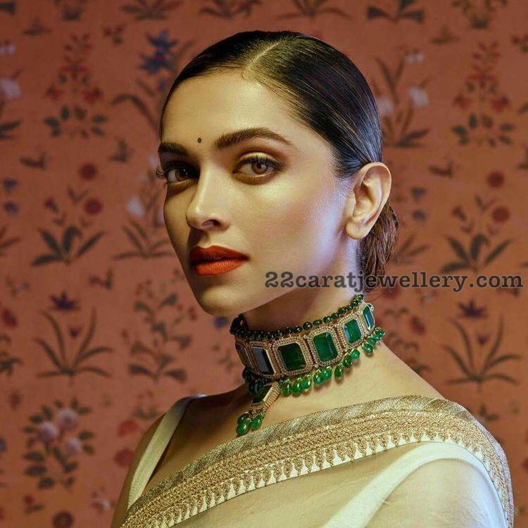 Deepika Padukone in Sabyasachi Jewellery - Jewellery Designs