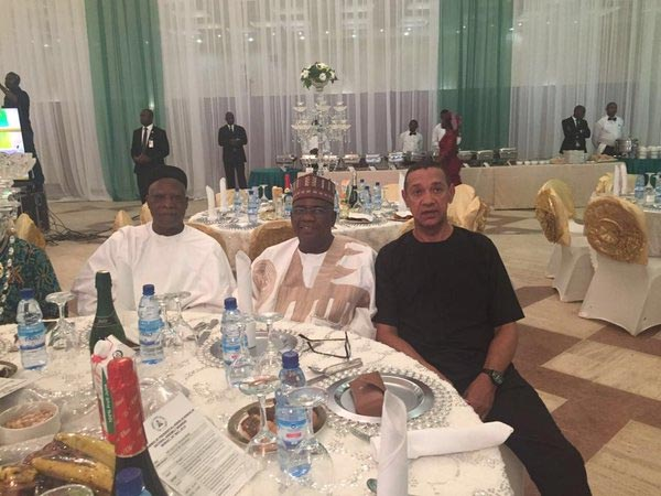 Photos of Senator Ben Murray-Bruce at presidential dinner in Abuja today