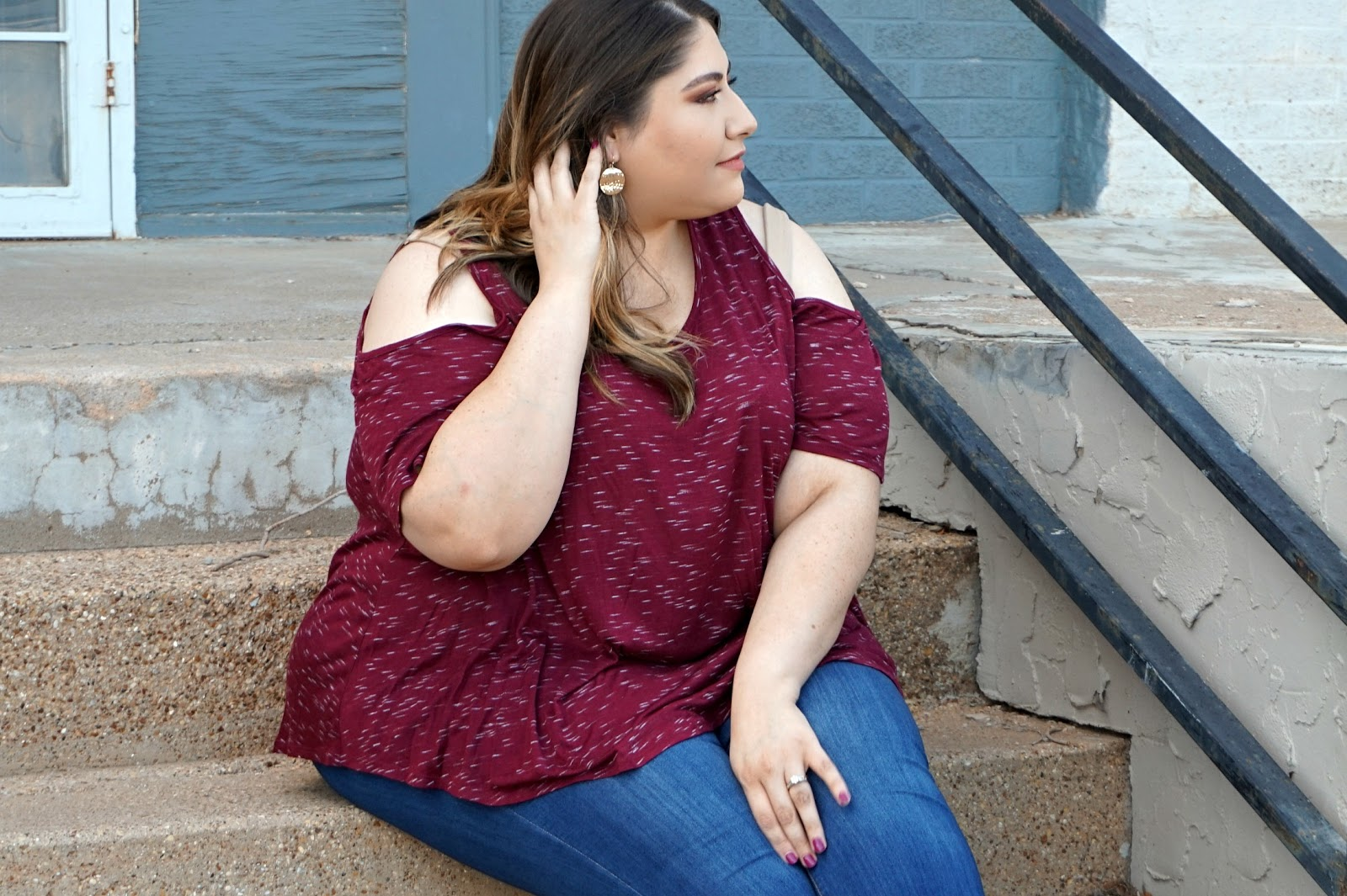 Cold Shoulder Plus Size Top | Easy & Cute Plus Size Outfits | Dia & Co Plus Size Clothing Subscription | Plus Size Outfits // Beauty With Lily, A West Texas Beauty, Fashion & Lifestyle Blog
