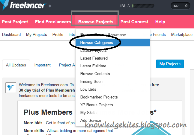 Work on freelancer com brows project